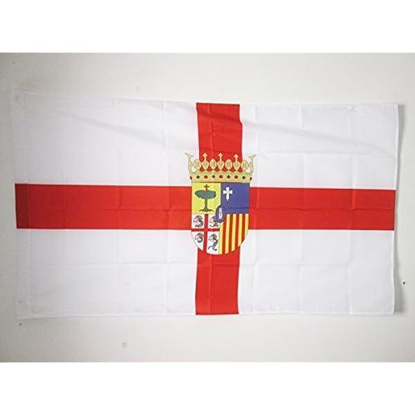 AZ FLAG Bandera de la Provincia DE Zaragoza 150x90cm para Palo - Bandera Zaragoza EN ARAGÓN 90 x 150 cm: Amazon.es: Jardín