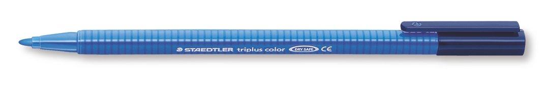 Staedtler Triplus Colour 323-3 Fibre-Tip Pens - Blue (Pack of 10) by STAEDTLER