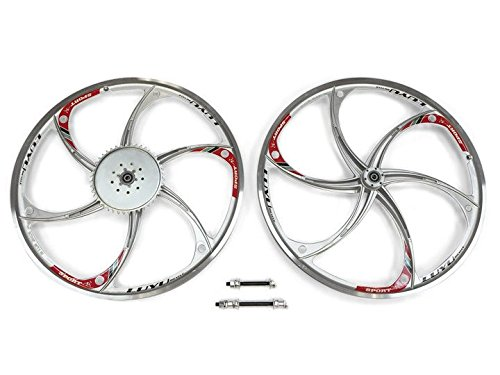 Aluminum Wheels with 44T Sprocket HY-22 (Silver) 80CC Gas Motorized Bicycle (Motorized Bicycle Wheel compare prices)