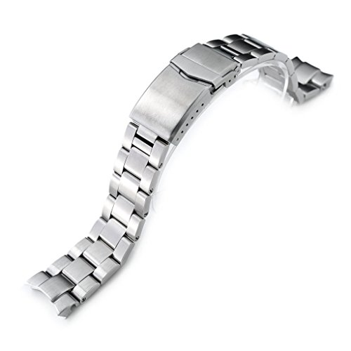 20mm Super 3D Oyster Watch Band for Seiko Alpinist SARB017, Brushed, ()