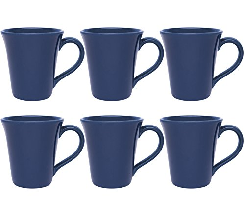 - Oxford Daily Tulip Mugs- Set of 6 (Blue)