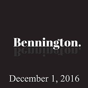 Bennington, December 1, 2016 Radio/TV Program