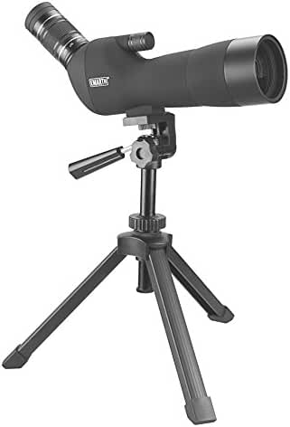Emarth 20-60x60AE Bak4 Prism Spotting Scope with Tripod, Waterproof 45-degree Angled Spotter Scope for Bird Watching Target Shooting, Include Canon Camera Adapter(Upgraded Version)