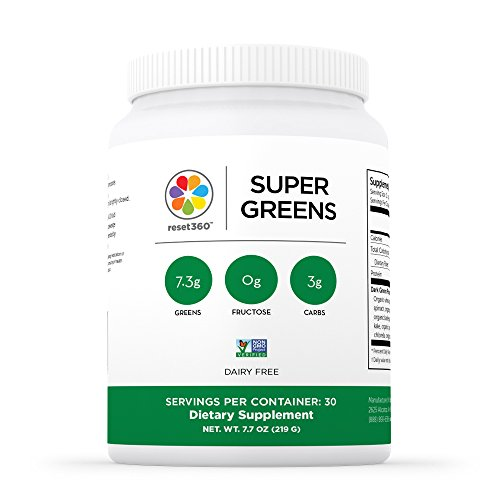 Greens Superfood Drink Powder by Reset360-Dark Super Gree...