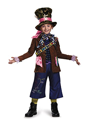 Costumes All Halloween Of Ten Time Top (Mad Hatter Prestige Alice Through The Looking Glass Movie Disney Costume,)