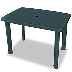 Festnight Plastic Outdoor Dining Table Garden Table Garden Furniture 101x68x72 cm Green
