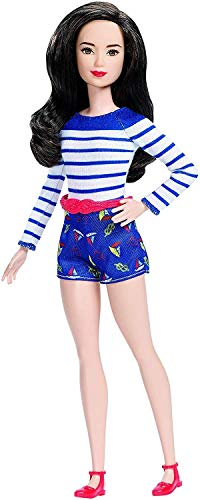 Barbie Fashionistas Doll 61 Nice in Nautical (Barbie Doll Black Hair)