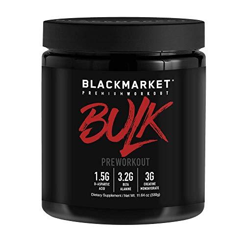 BLACKMARKET AdreNOlyn Bulk Pre Workout, Blue Razz, 30 Servings, 330g