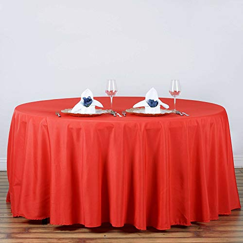 "Home Garden Red Kitchen Dining 120"" Round Polyester Tablecloth 2pcs Tkvormart from Unknown"