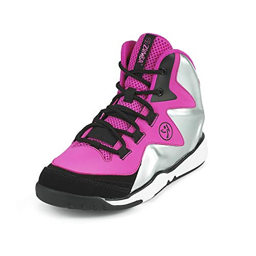 Zumba Women's Energy Boom High Top Athletic Shoes Dance Gym Workout Sneakers Training, Pink/Silver,...