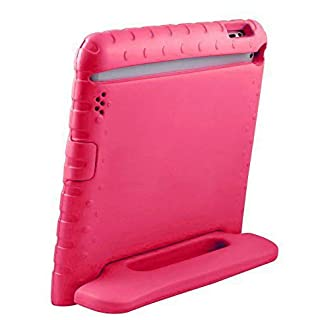 "AVAWO Kids Case for 9.7"" iPad 2 3 4 (Old Model) - Light Weight Shock Proof Convertible Handle Stand Kids Friendly for iPad 2, iPad 3rd Generation, iPad 4th Generation Tablet - Magenta/Rose"