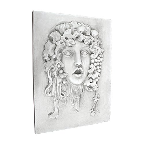 - Design Toscano Goddess of The Grapes Italian Style Wall Sculpture, Medium