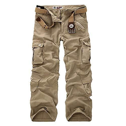 Pantaloni Mimetico Completo Da Primavera All'aperto Autunnali Lavoro In Autunno Larghi Casual Khaki Lunghi Leichtes Cotone Combattimento Uomo dhrsQt