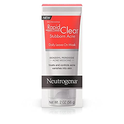 Neutrogena Rapid Clear Stubborn Acne Daily Leave-On Mask, 2 Oz (Pack of 3) (Benzoyl Peroxide Face)