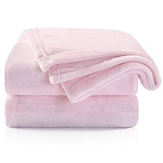 TILLYOU Micro Fleece Plush Baby Blanket Large Lightweight Crib Blanket for Toddler Bed, Super Soft Warm Kids Blanket for Daycare Preschool, Fluffy Fuzzy Flannel Nap Blanket Oversized, 40x50 Lt Pink