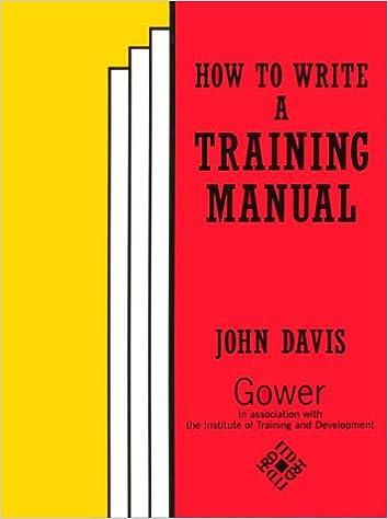 amazon com how to write a training manual 9780566073250 john