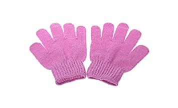 srovfidy 1/par ba/ño ducha guante guante de masaje de cuidado de la piel lavadora limpieza exfoliante guante