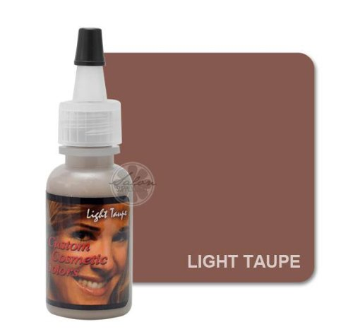 Light Taupe EYEBROW Permanent Makeup Pigment Cosmetic Tattoo Ink 1/2oz by Custom Cosmetic Colors