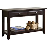 Furniture of America Bury Sofa Table, Espresso