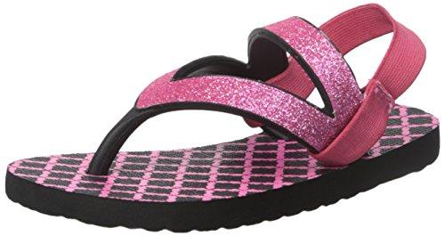 Sanuk Kids Lil Selene Crystal Flip Flop (Toddler/Little Kid/Big Kid), Pink/Black, 11/12 M US Little - Havianas Pink