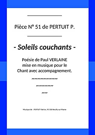 Pièce N 51 De Pertuit P Soleils Couchants French Edition
