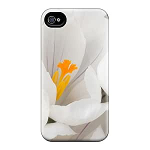 Mialisabblake Scratch-free Phone Case For Iphone 5/5s- Retail Packaging - White Crocus