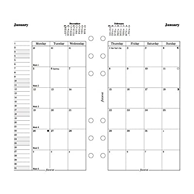 "Filofax Month on Two Pages Refill for 2016 Personal/Compact Size Yearly Calendar, 6.75x3.75"" (C68410-16)"