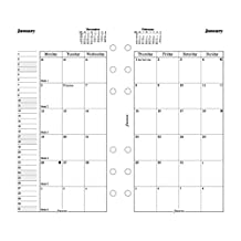 Filofax 2016 Month on Two Pages Refill, January 2016 to December 2016, Personal and Compact Size, English (C68410-2016)