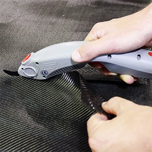 Commercial Electric Composite Fabric Cutter Kit-Tungsten Steel Blades, Rugged Construction, Long Battery Life