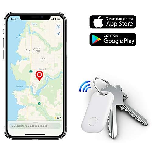 Moupa Key Finder Smart Tracker Item Finder Phone Finder Bluetooth Smart Tag-White