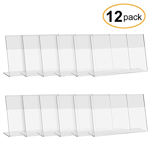 CRUODA Acrylic Sign Display Holder L,6x4, 12 pc, Display Stands, Menu Holders, Table Card Holders, Photo Frames, Ad Frames - Long Menu Card
