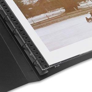 Prat Start 1 Spiral Book, Semi-Rigid Cover, 10 Sheet Protectors with Black Paper Inserts, Multi-Ring Binder and CD Holder, 11 X 8.5 inches, Black (SPB-11BK) (Prat Spiral Start)