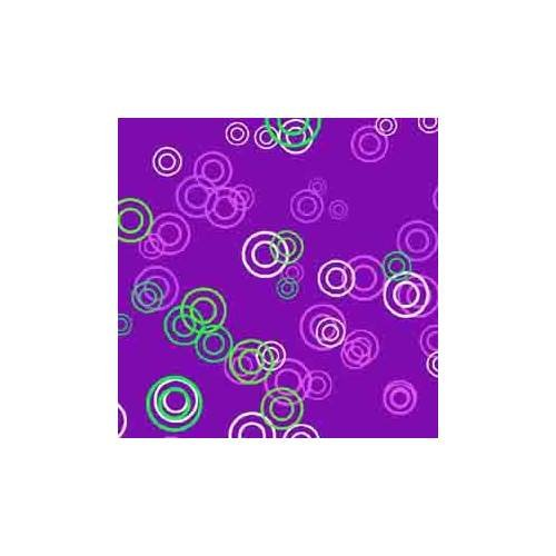 ArtScape Pool Table Cloth in Purple Rings