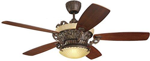 Monte Carlo 5SBR56TBD-L, Strasburg Ceiling Fan, 56-Inch Span, Tuscan Bronze