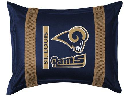 Nfl St Louis Rams Sideline Sham Bedroom Store