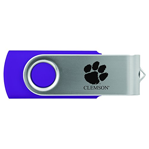 Clemson University -8GB 2.0 USB Flash Drive-Purple