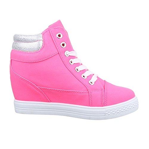 Ital-Design - Zapatillas altas Mujer Rosa