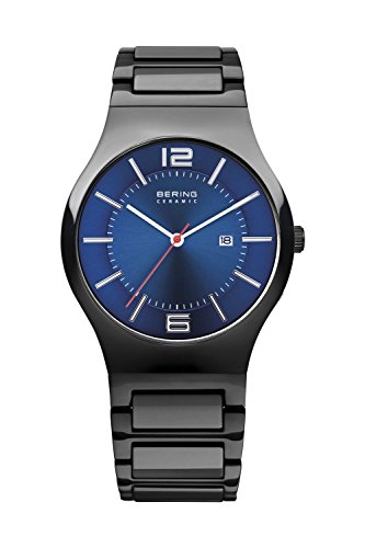 BERING Time 31739-747 Men's Ceramic Collection Watch with Ceramic Link Band and scratch resistant sapphire crystal. Designed in Denmark.