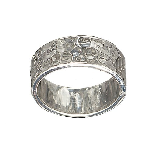 and Fashion Ring in Rhodium Plated Brass Size 10 ()