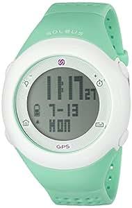 Soleus Fly - Reloj GPS, color blanco y menta