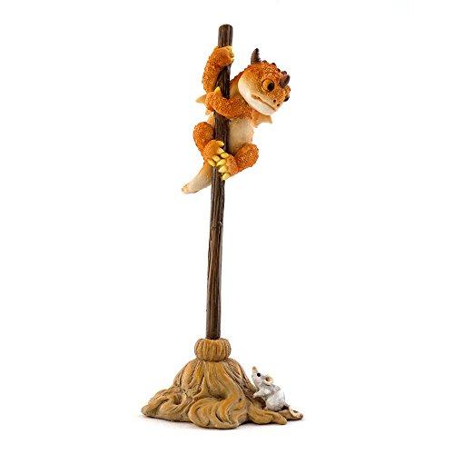 Top Collection Solar The Red Dragon - Scaredy Dragon! 6.5-Inch Cute Magic Dragon Statue, Mini Collectible Fantasy Figurine