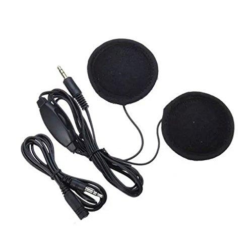 Goliton® walkie-talkie/casque oreillette MP3 pour équipement moto-Noir