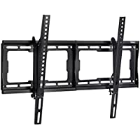 VonHaus PREMIUM Super-Strong Slim TV Wall Bracket with 15 Degree Tilt Up/ Down for 24 - 70 inch LED, LCD & Plasma Screens - 165lb weight capacity - Max. VESA 600x400