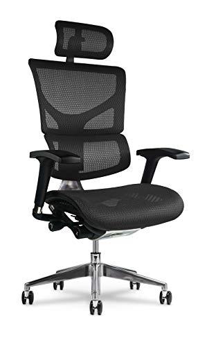 X Chair Office Desk Chair (X2 Black K-Sport Mesh-Wide Seat-Headrest) Ergonomic Lumbar Support Task Chair Breathable Mesh…