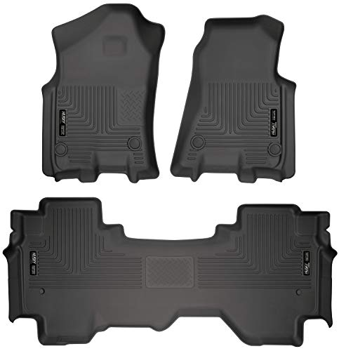 Husky Liners 94011 Combo Set Black Front and 2nd Seat Floor Liners Fits 2019 Ram 1500 Quad Cab