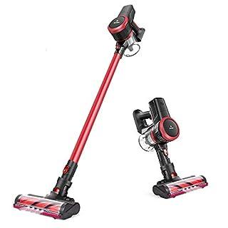 MOOSOO Cordless Vacuum, 23Kpa 4-in-1 Stick Vacuum Cleaner Brushless Motor Ultra-Quiet with Upgraded LED Floor Head for Hard Floor