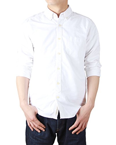 bii-free-mens-clothing-casual-button-down-shirts-100-cotton-oxford-shirt-x-x-large-white