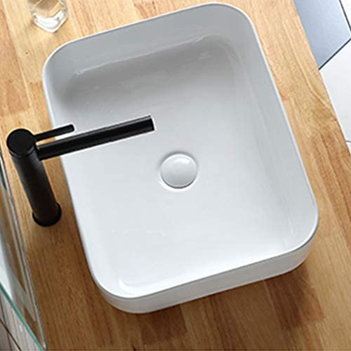 省スペース洗面台,ミニ型 陶器 洗面ボール 洗面ボウル 楕円形 洗面台 手洗器 洗面台 手洗い鉢 おしゃれ 洗面ボ ガラス 手洗い鉢 手洗い器 壁付け型 (Color : White)