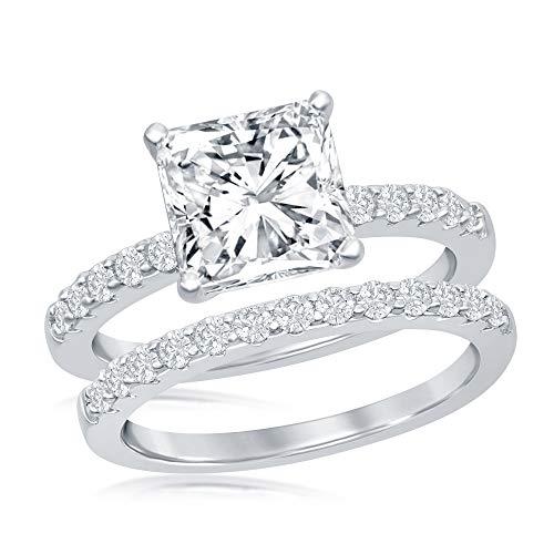 princess cut engagement rings - 1