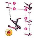 Globber Evo 3 Wheel 5-in-1 Convertible Scooter (Pink)